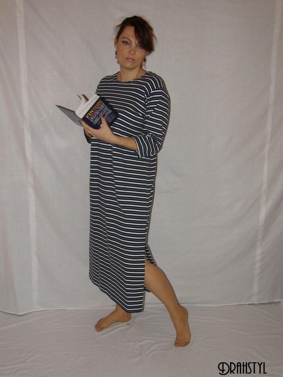 Domácí šaty s delším rukávem Karla 5dfd33a35f