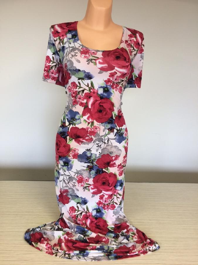Šaty dina s velkými květy vhodné i pro svatební matky ebd092d1a7