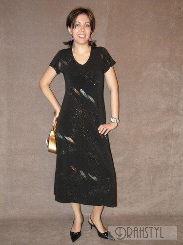 Černé společenské šaty na ples SPOTA 2766da6bec