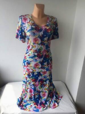 Kostým modré květy YWONA 6d573a557e